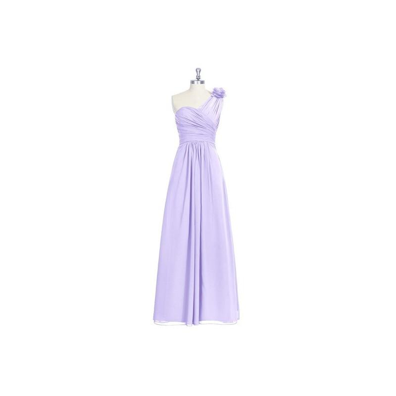 Boda - Lilac Azazie Erica - Strap Detail Floor Length One Shoulder Chiffon Dress - Charming Bridesmaids Store
