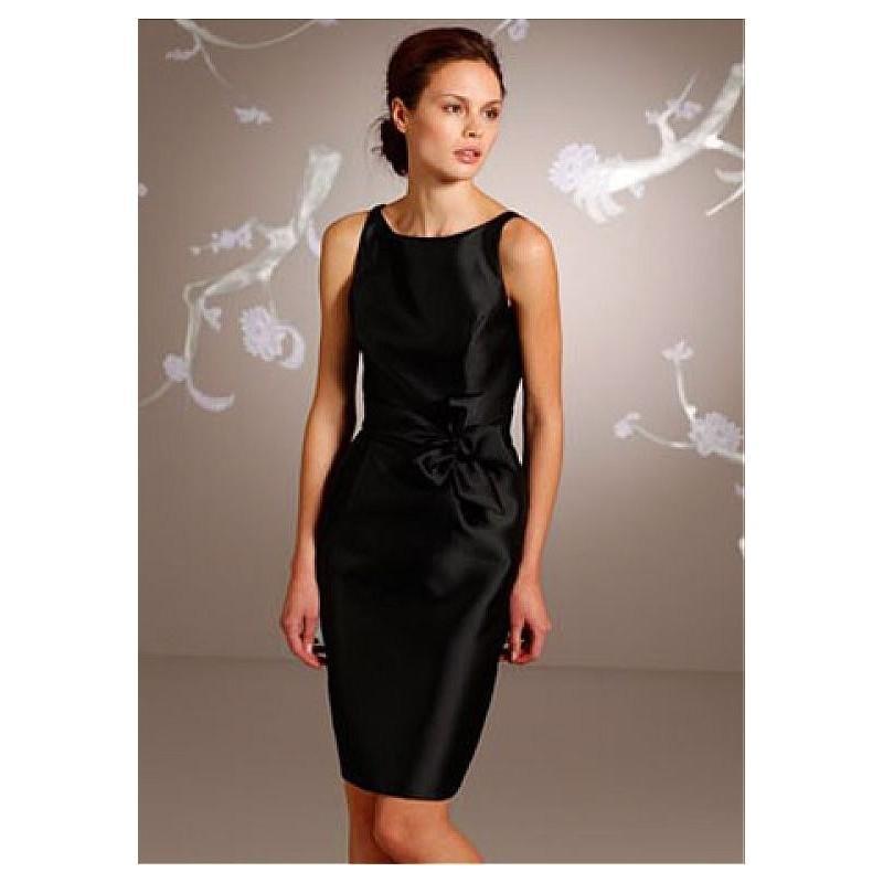 Boda - Fabulous Satin Bateau Neckline Natural Waistline Sheath Bridesmaid Dress - overpinks.com