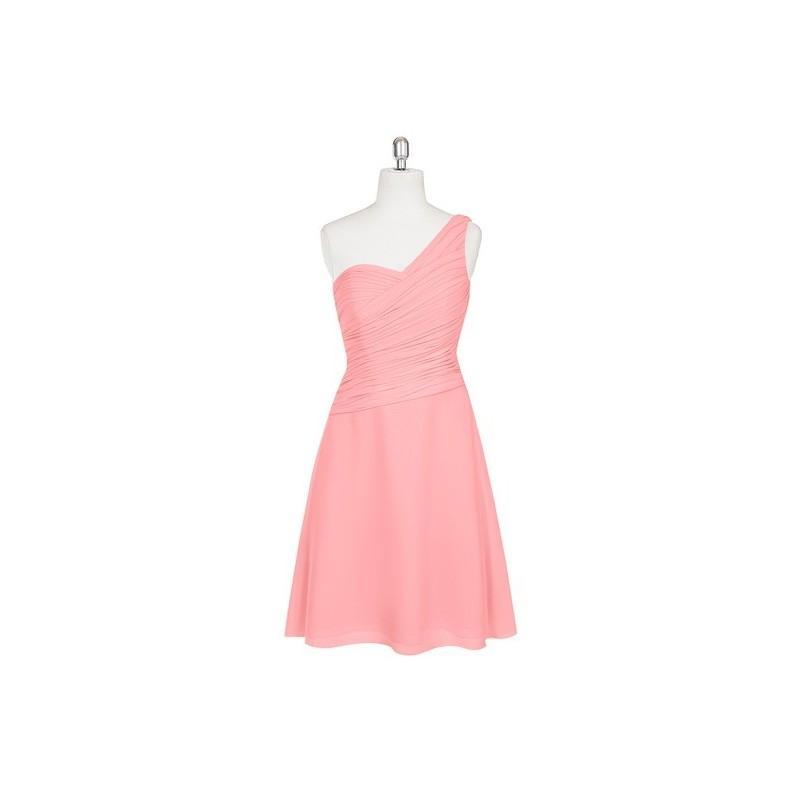 Boda - Flamingo Azazie Brynn - Chiffon Back Zip One Shoulder Knee Length Dress - Charming Bridesmaids Store