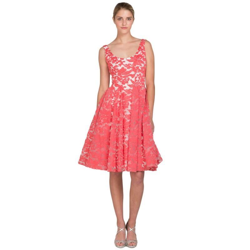 Mariage - Badgley Mischka Floral Godet Circle Skirt Dress - Wedding Dresses 2018,Cheap Bridal Gowns,Prom Dresses On Sale