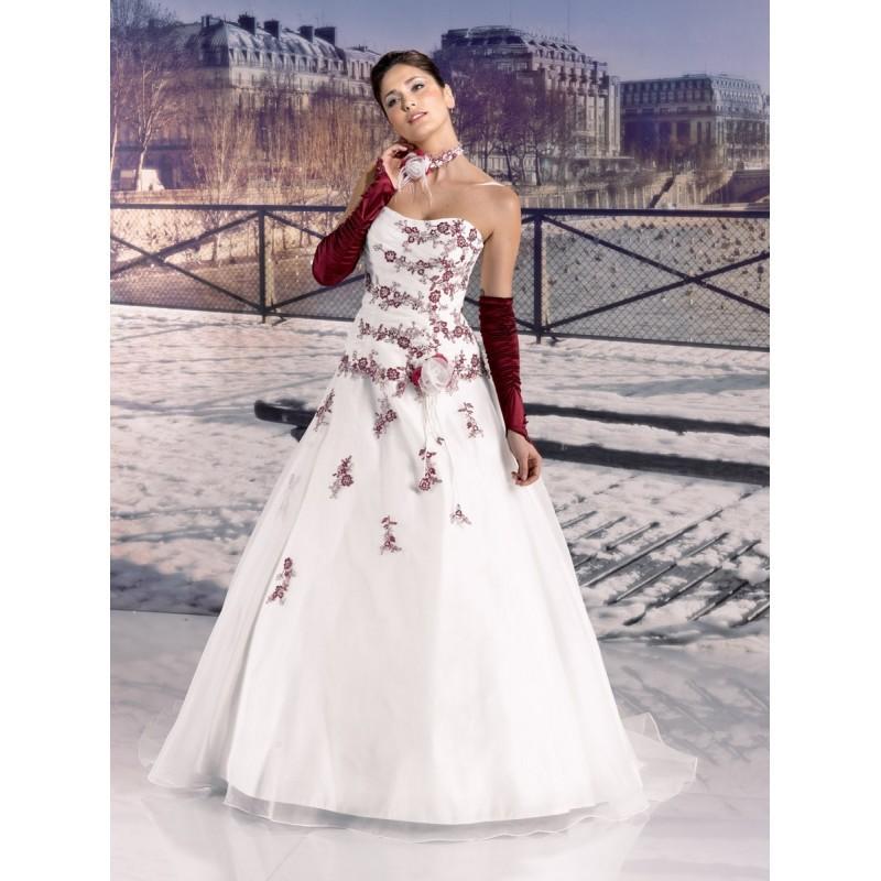 Wedding - Miss Paris, 133-10  ivoire et pourpre - Superbes robes de mariée pas cher