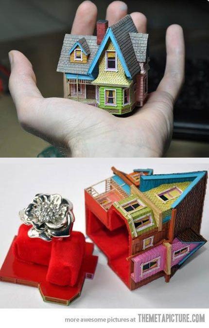 Свадьба - 'Up' Engagement Ring Box…