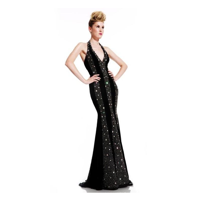 Wedding - Johnathan Kayne 424 Halter Mermaid Dress - Brand Prom Dresses