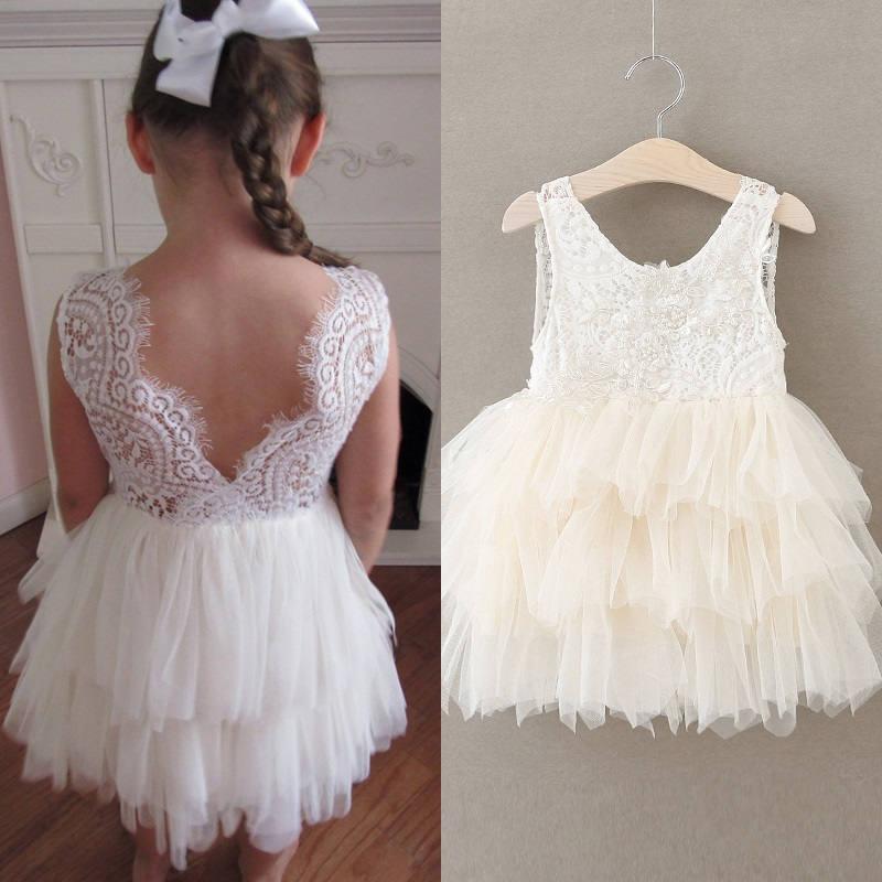 زفاف - Ivory flower girl dress,White lace dress,Ivory tutu dress,Ivory tulle dress, Bridesmaid,Birthday,Wedding, Holiday,Party, Rustic wedding