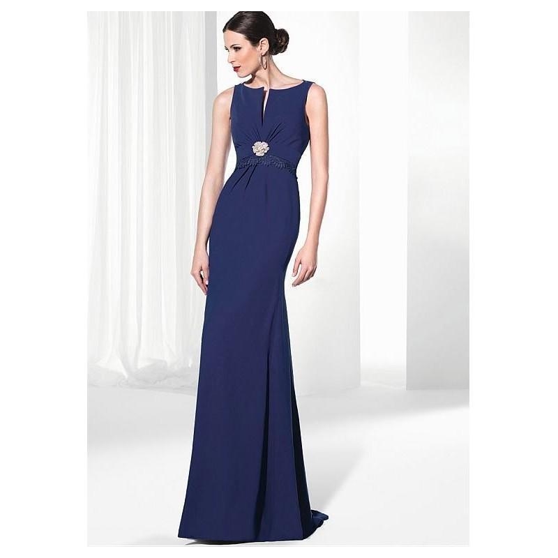 Wedding - Elegant Chiffon Bateau Neckline Sheath Evening Dresses with Venice Lace - overpinks.com