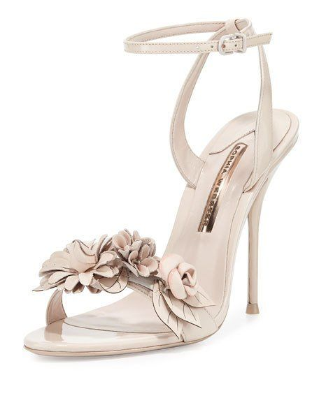 Wedding - Lilico Floral Leather 105mm Sandal, Nude