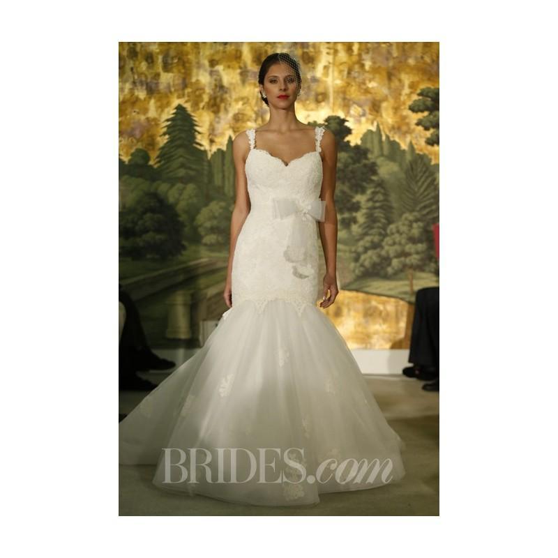 Свадьба - Anne Barge - Spring 2014 - Astere Spaghetti Starp Mermaid Wedding Dress - Stunning Cheap Wedding Dresses