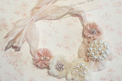 Mariage - Vintage Pearl Bling Necklace. Neck01