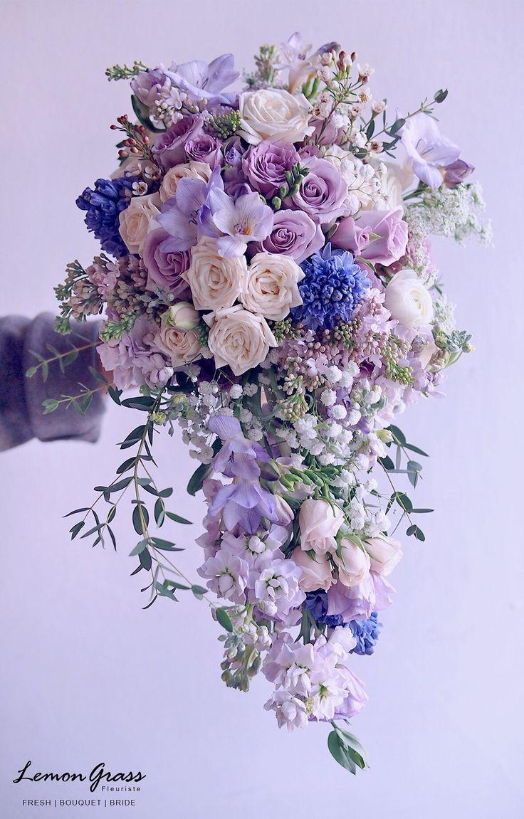 Hochzeit - Wedding Purples, Lavender, Pink Bouquets