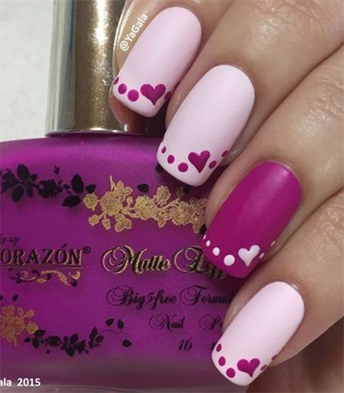 15 Easy Cute Valentine S Day Nail Art Designs Ideas 2017