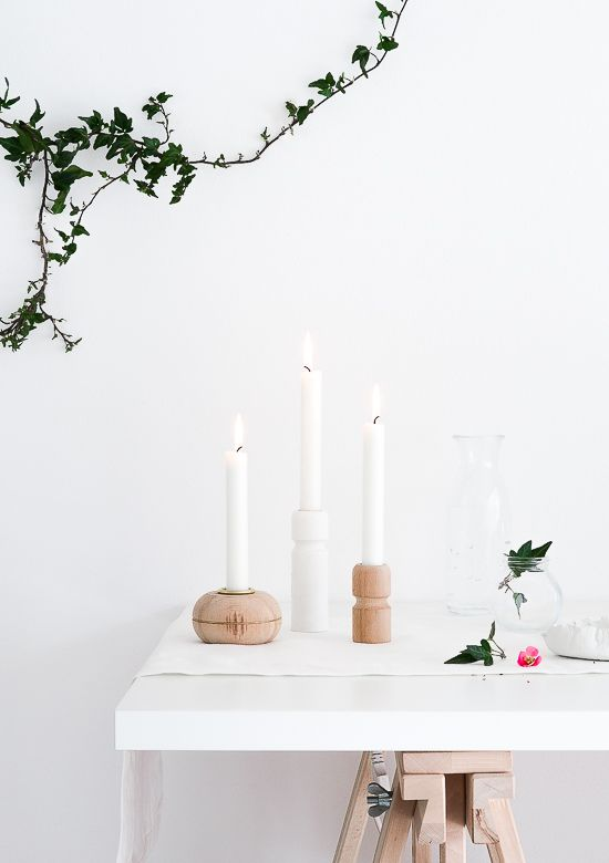 Wedding - DIY Candle Holders From Furniture Legs