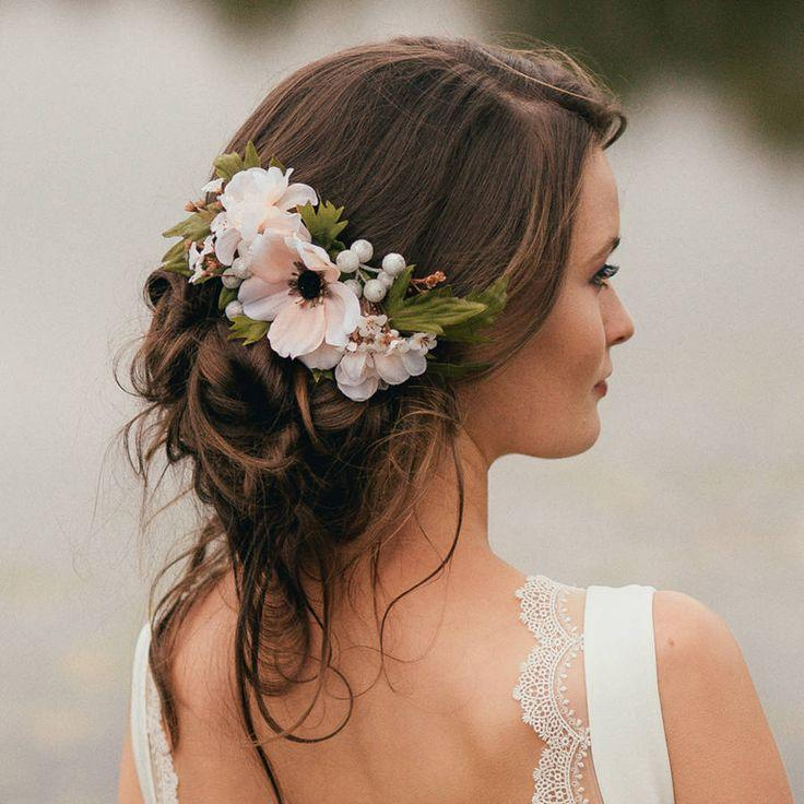 Wedding - Annabelle Flower Hair Comb