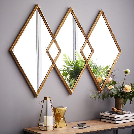 Wedding - Overlapping Diamonds Mirror