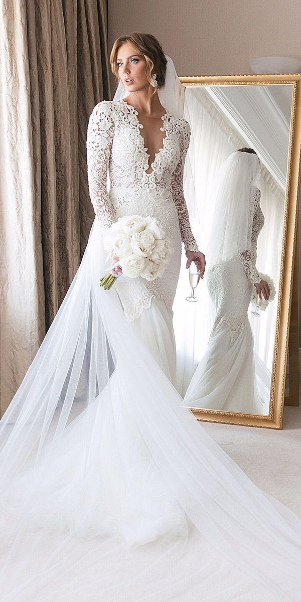 15 Illusion Long Sleeve Wedding Dresses You\'ll Like #2818091 - Weddbook