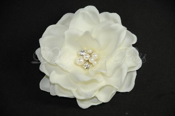 Свадьба - BP6-PI - BEST Seller - Bridal Petite Gardenia  Hair Flower with Swarovski Pearls and Crystals Center. Bride.Hairpiece