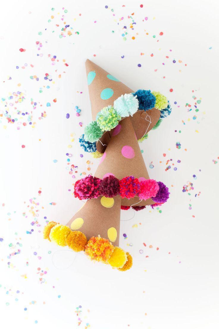 Wedding - POM POM PARTY HAT DIY