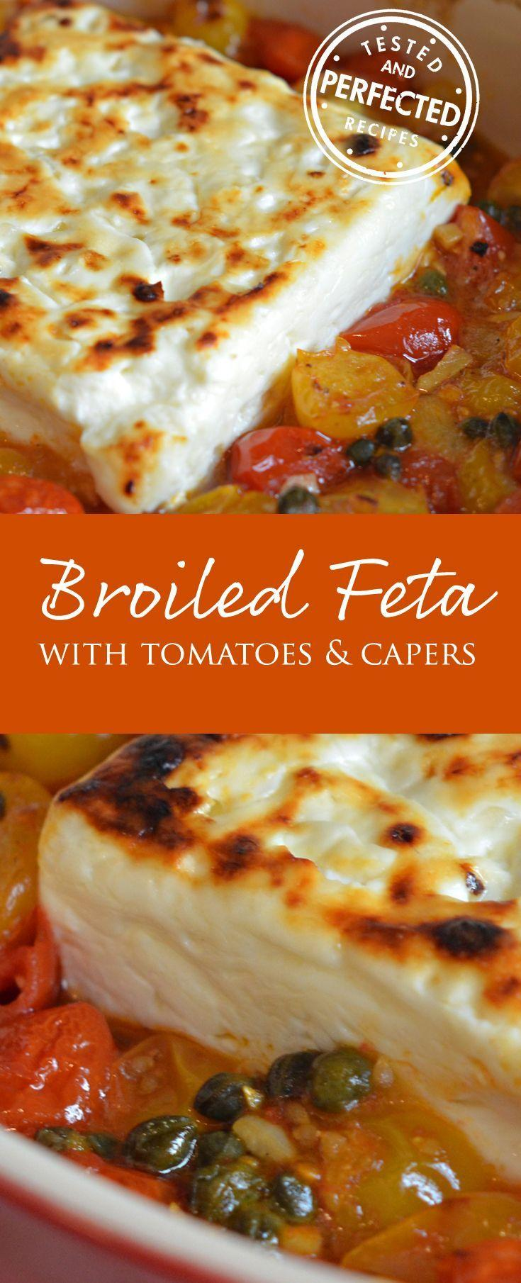 Boda - Broiled Feta With Garlicky Cherry Tomatoes & Capers