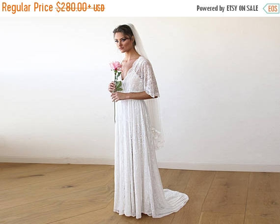 Oscar Sale Floral Wedding Dress With Train Lace Ivory Sheer Maxi ... 7d8c1ecf1
