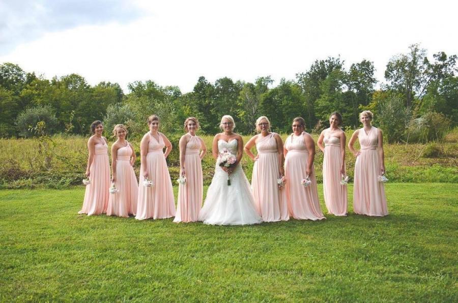 زفاف - Floor Length LONG Ball Gown Maxi Infinity Dress Convertible Formal Multiway Wrap Bridesmaid Dress Evening Dress Wedding Christmas Party