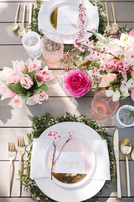 Hochzeit - Decoracion Con Flores Naturales Una Tendencia Para Fiesta De Quinceañera