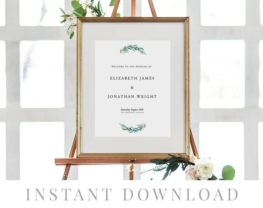 picture regarding Wedding Signs Printable referred to as Welcome Indication Immediate Down load, Marriage ceremony Signage, Do-it-yourself