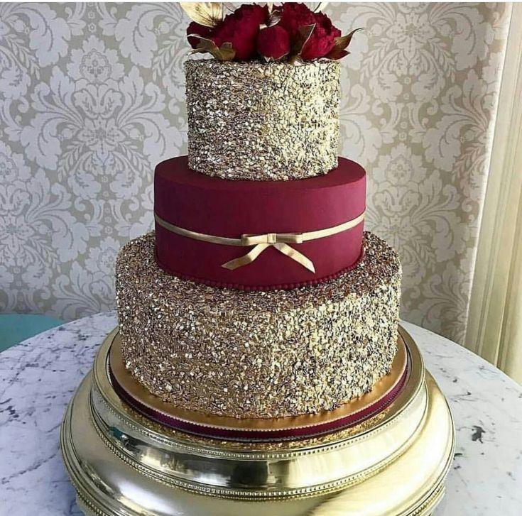 Cake Burgundy Wedding 2818962 Weddbook
