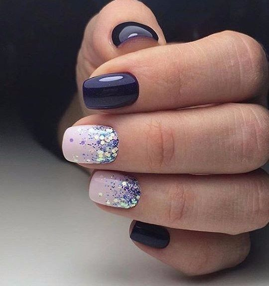 Свадьба - 47 Playful Glitter Nails That Shines From Every Angle