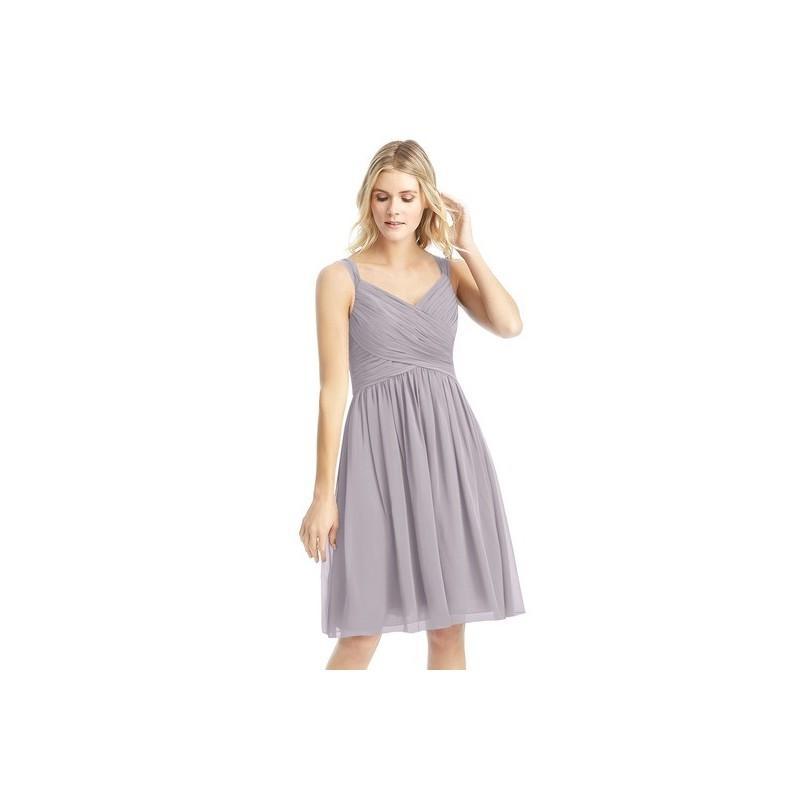 0df4fea73f3 Dusk Azazie Mikaela - V Neck Bow Tie Back Chiffon Knee Length Dress -  Simple Bridesmaid Dresses   Easy Wedding Dresses