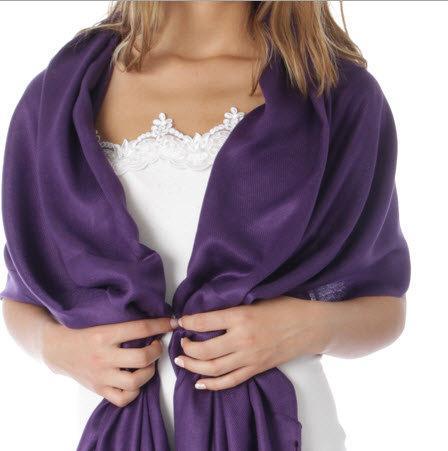 Hochzeit - Eggplant / Dark purple Wedding Pashmina Scarf - purple Bridesmaid's gifts - eggplant shawl - purple bridal Shawl - dark purple party favors