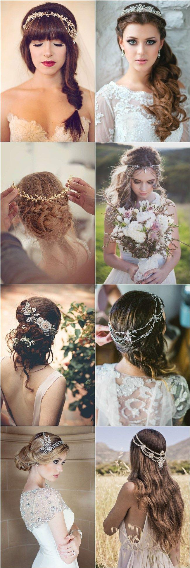 Hochzeit - 30 Amazing Wedding Hairstyles With Headpiece