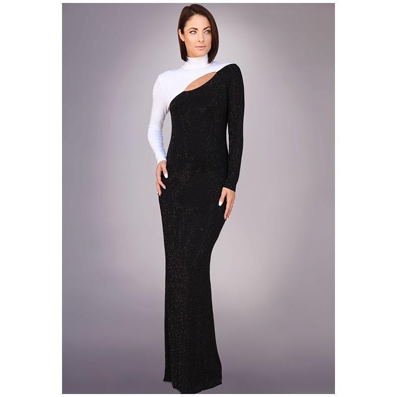 Свадьба - Grayse Wedding Party W1420323 - Sheath Black Scoop Specialty - Formal Bridesmaid Dresses 2018