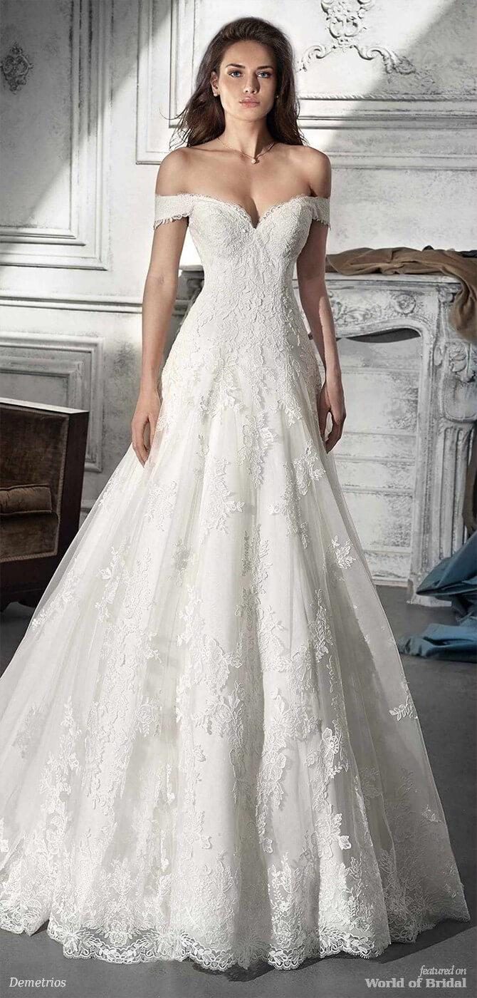Mariage - Demetrios 2018 Wedding Dresses - World of Bridal