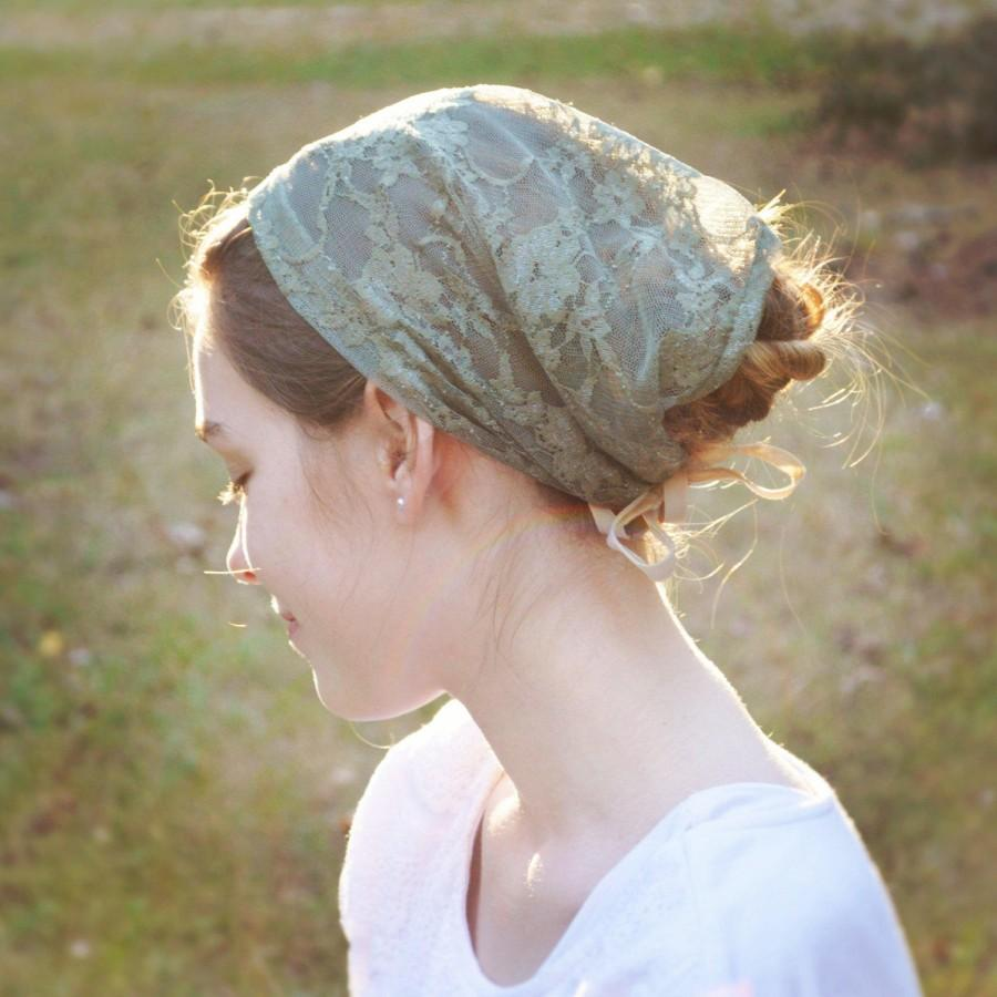 Mariage - Soft Fern Green Lace Convertible Head Cover