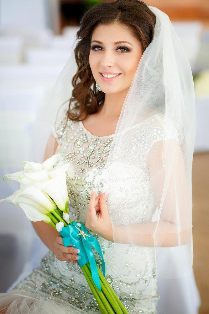 زفاف - Wedding Veil, Full Bridal Veil, Cut Edge Veil, Single Tier Veil, Ivory Wedding Veil 9015