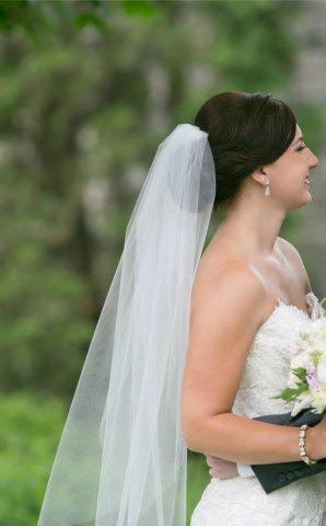 Hochzeit - SHIPS NOW,  Fingertip short wedding veil