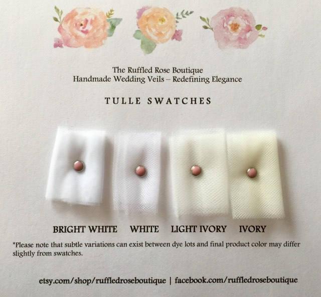 Hochzeit - Tulle Swatches, Swatch Card, Veil Swatches, Swatches, Sample Swatches