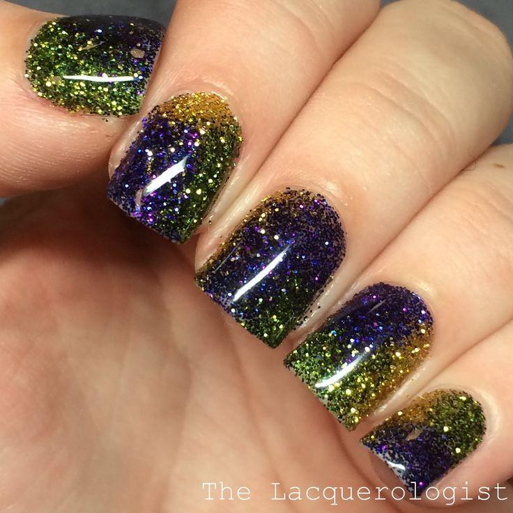 Свадьба - Mardis Gras Glitter Gels! (Casual Contrast)