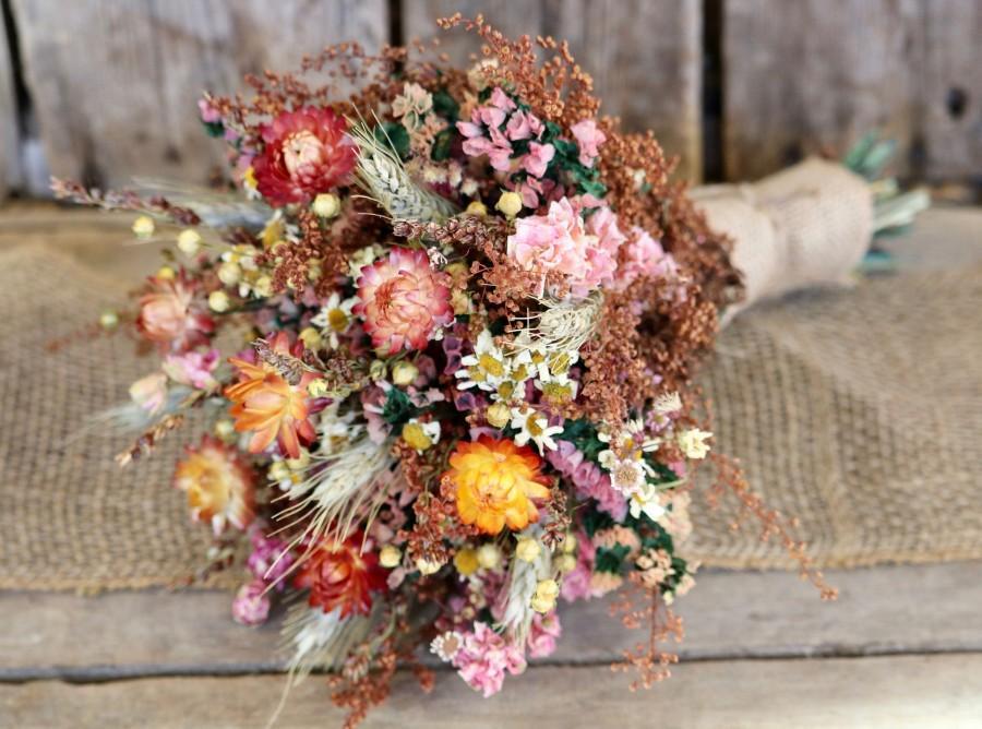 Свадьба - FALL Flower Bouquet - Rustic Wedding Bouquet - Bridal Bouquet - Bridesmaid Bouquet - Fall Wedding - Bouquet - Dried Flower Bouquet