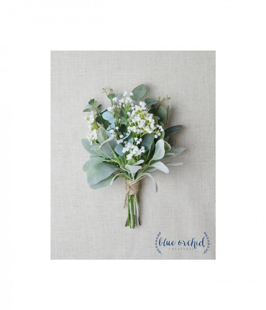 Свадьба - Bridesmaid Bouquet, Wedding Flowers, Silk Bridesmaid Bouquet, Bridesmaid Bouquets, Artificial Bouquet, Wedding Bouquet, Greenery Bouquet