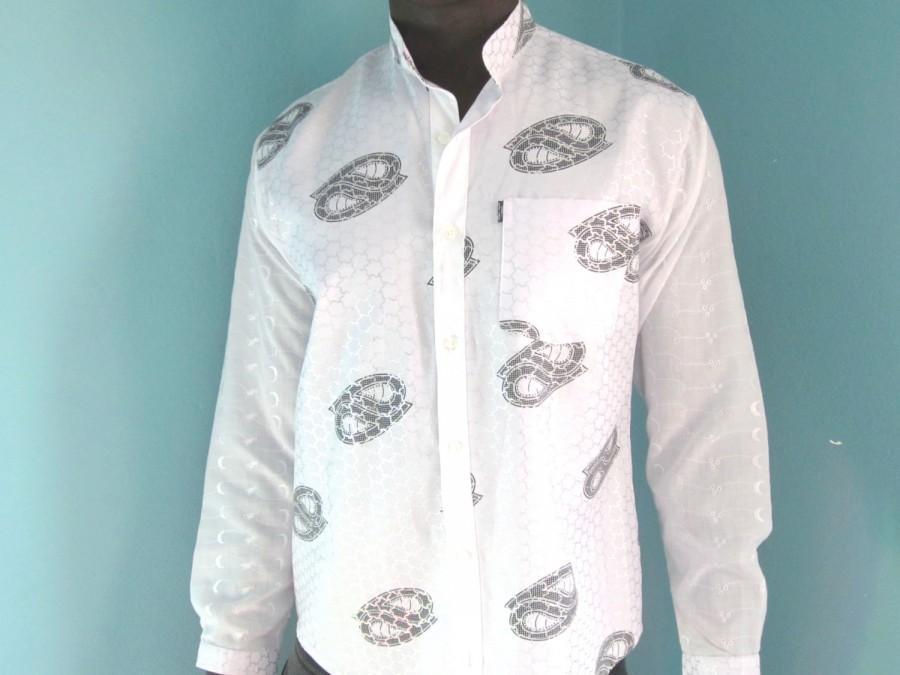 Wedding - Grooms, Wedding, Best Mens Shirt, Mens Wear, White Indian Style Shirt, Hemd, Camisa