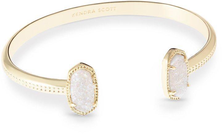 زفاف - Elton Gold Bracelet in Iridescent Drusy