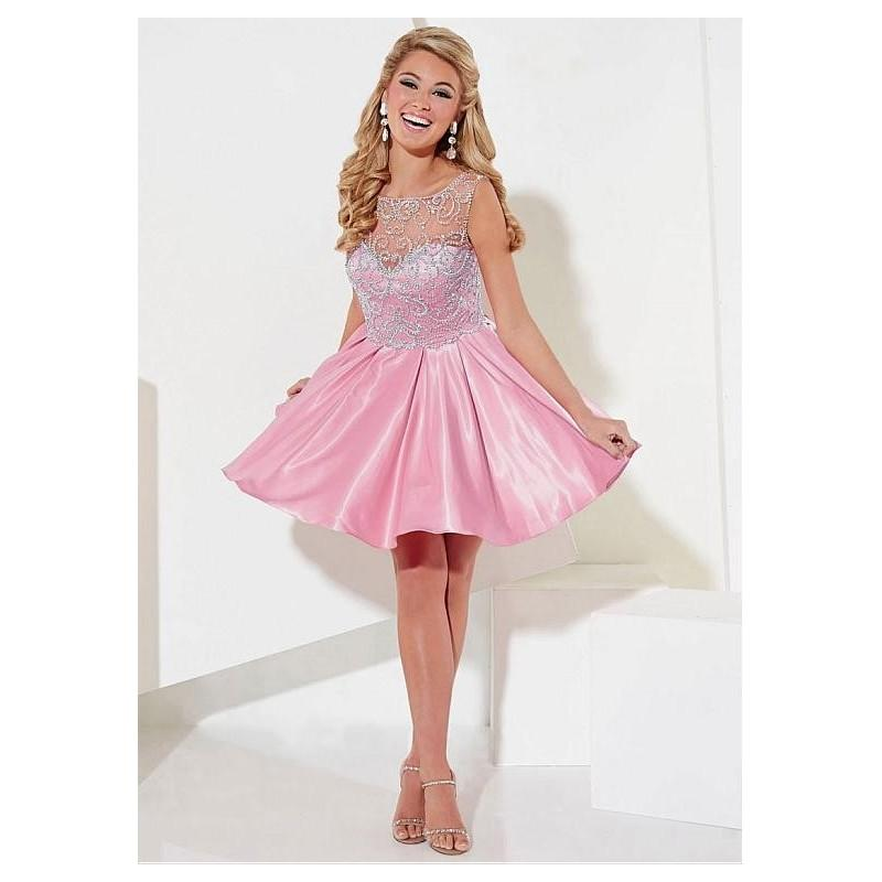 Wedding - Brilliant Tulle Bateau Neckline A-Line Homecoing Dresses with Beadings & Rhinestones - overpinks.com