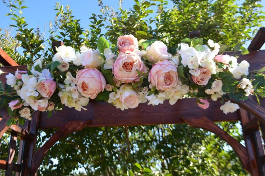 Mariage - Wedding Arch, Ceremony Arch, Chuppah Arch, Silk Flower Arch, Wedding Arch, Rustic Wedding Flowers, Peony Arch, Faux Arch Flowers
