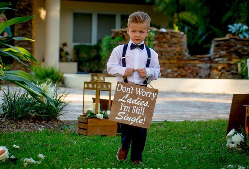Mariage - Ring Bearer Signs/ Ringbearer Sign/Flower Girl Signs/Wedding Entrance/Wedding Ceremony Prop/Wedding Sign/Rustic Wedding/Country Wedding