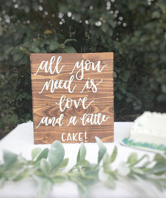 Wedding Wood Sign Wooden Sign Wedding Cake Table Sign Wedding