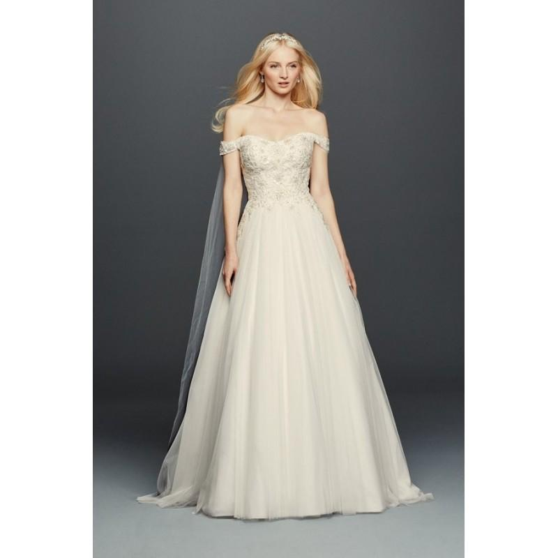 Style CWG729 By Oleg Cassini At David\'s Bridal - Chapel Length Tulle ...