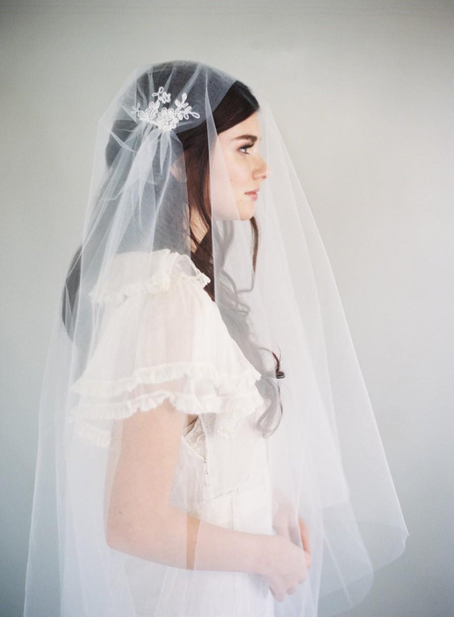 Hochzeit - Lace Veil, Juliet Cap Veil, 1920s Veil, Downton Abbey Veil, Fairy Lace, Kate Moss Veil, Vintage Veil, Cathedral Veil, Woodland Veil, 1624