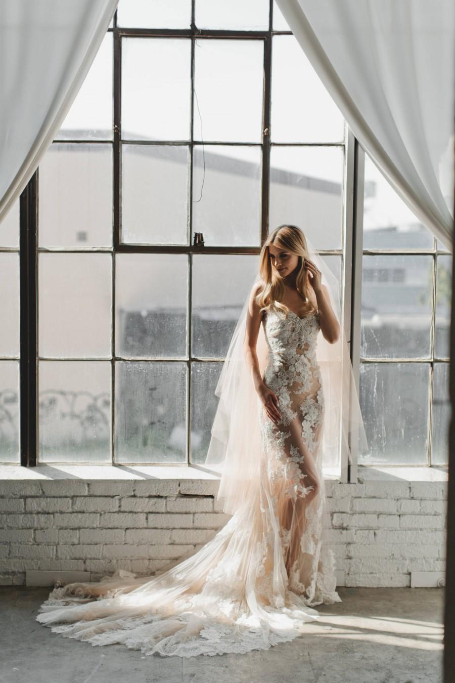 Boda - Wedding Veil, Champagne Veil, Ballet Length Tulle Veil, Bridal Veil, Tulle Veil, Double Double Layer Drop Veil #1701