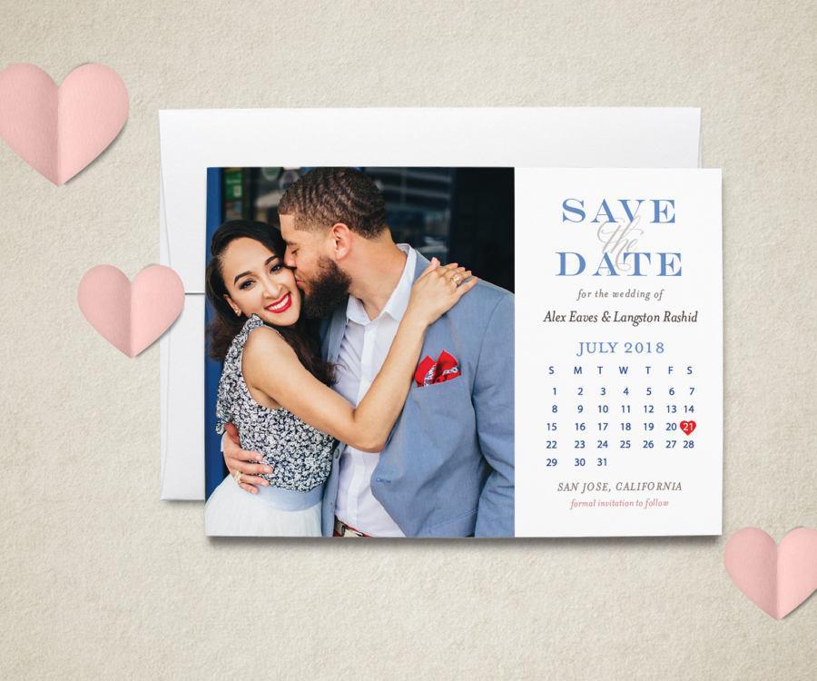 Свадьба - Save the Date Calendar Magnet - Wedding Save the Date with Calendar - Calendar Magnet - Magnet Calendar