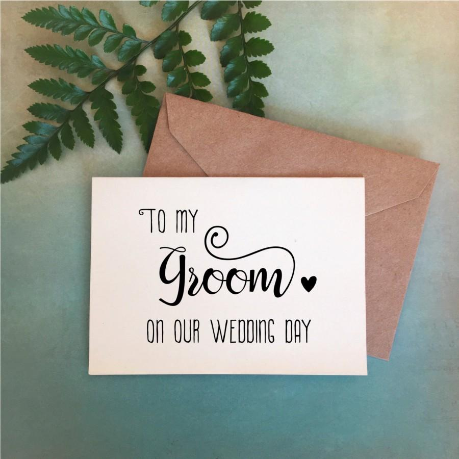 Mariage - Wedding Day Card, to my Groom card, Bride to groom gift, gift to Groom, Groom Card, Groom Gift, Gift from Bride, Red Fern Studio